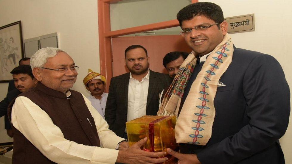 Bihar Chief Minister Nitish Kumar and Haryana Deputy Chief Minister Dushyant Chautala