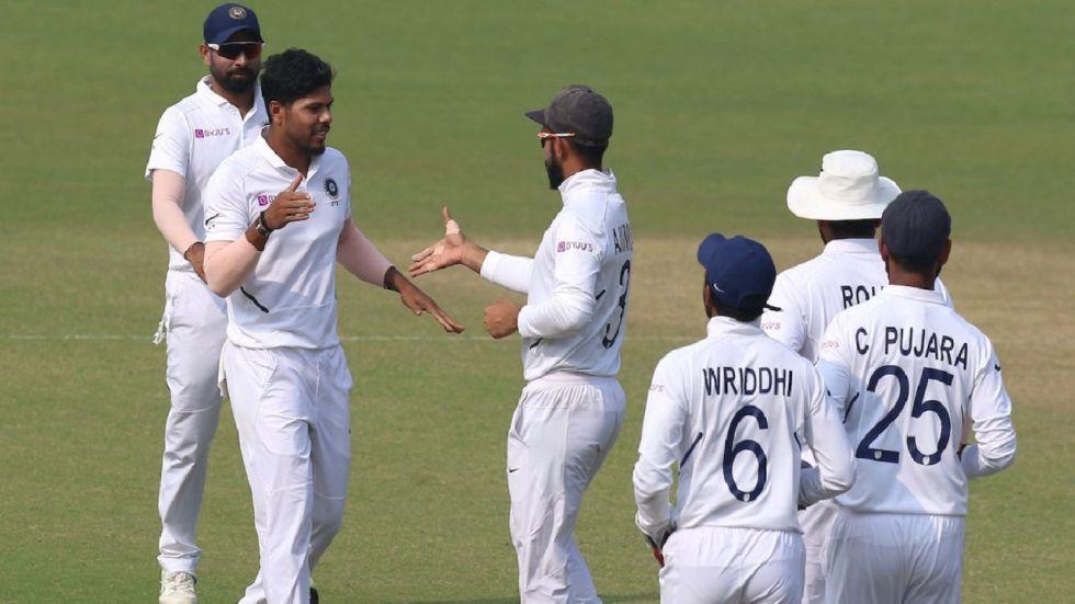 Umesh Yadav took a fifer as Idia won the historic pink ball test.