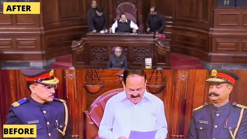 Previously, after furore over the 'military look' Rajya Sabha Chairman Venkaiah Naidu had said that the new uniforms of the Upper house marshals would be reviewed.