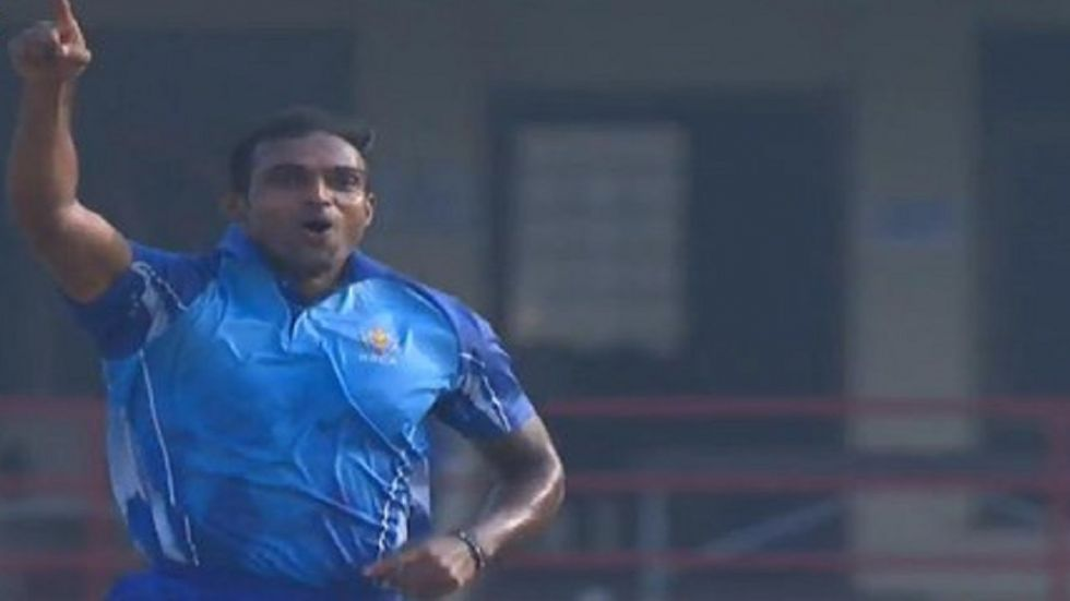 Abhimanyu Mithun took five wickets in one over to help Karnataka win against Haryana in the Syed Mushtaq Ali Trophy.