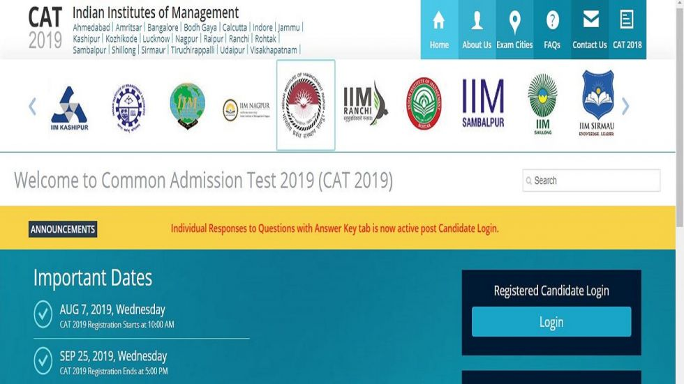 CAT 2019 Answer Key Released, Check At iimcat.ac.in