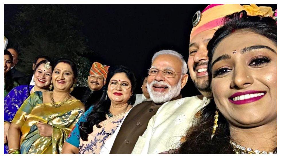 PM Modi Attends Mohena Kumari Singh's Wedding Reception In Delhi