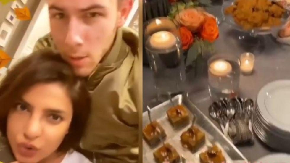 Priyanka Chopra And Nick Jonas Complain Of 'Too Much Food' Post Thanksgiving Dinner
