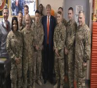Donald Trump Makes Surprise Visit To Afghanistan, Eats Turkey With Troops