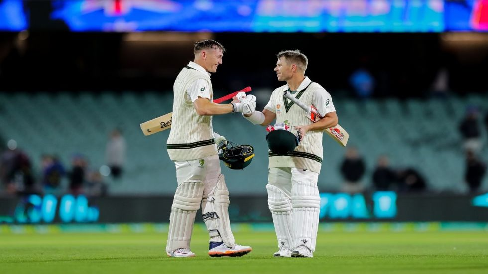 David Warner and Marnus Labuschagne's tons and record stand boosted Australia in the Day Night Test against Pakistan.