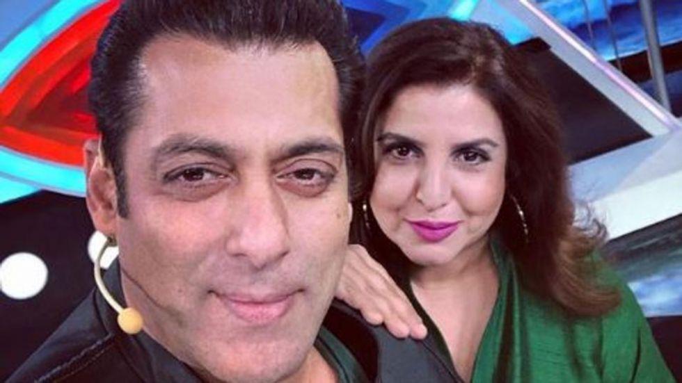Salman Khan and Farah Khan.