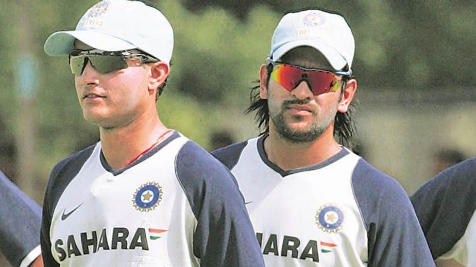Sourav with MS Dhoni