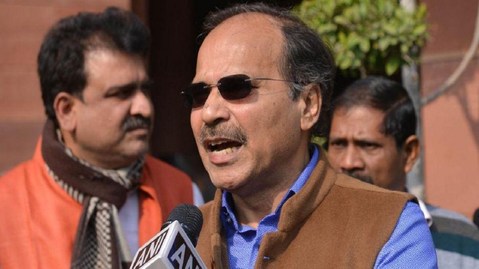 Congress leader Adhir Ranjan Chowdhury.