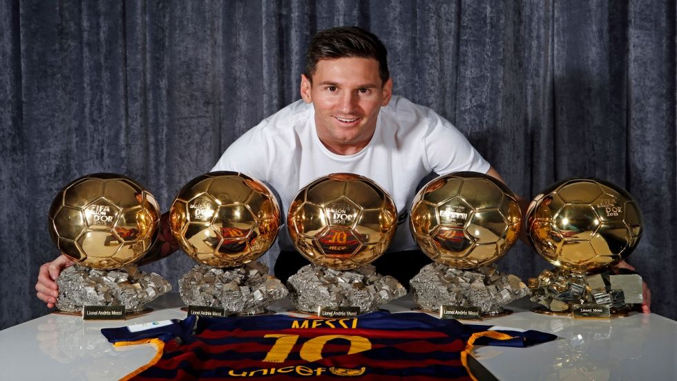 It is Messi's first Ballon d'Or since 2015 and his sixth overall.
