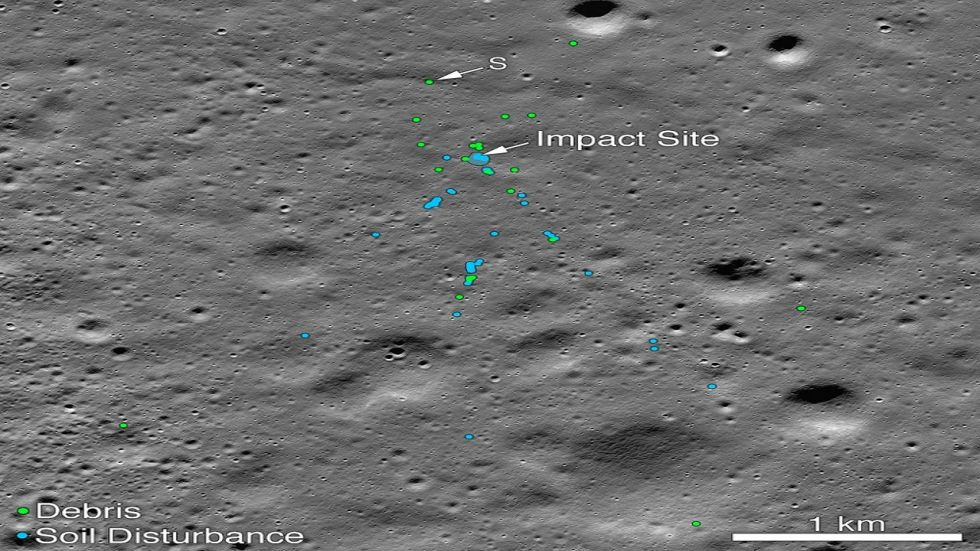 A NASA satellite orbiting the Moon has found India's Vikram lander which crashed on the lunar surface in September.