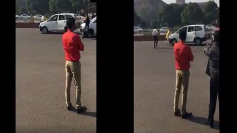 Man jumps in front of Rajnath Singh's convoy, seeks time to meet PM Modi – watch video