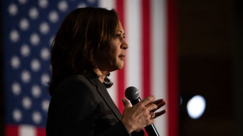 Kamala Harris was among first major Democratic Party leaders to announce her presidential run in last January