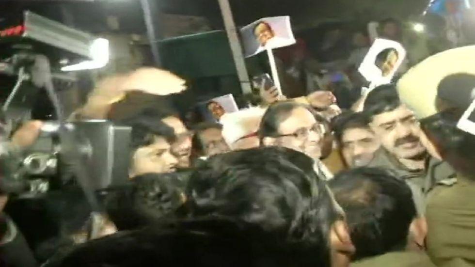 P Chidambaram walks out of Tihar jail after 106 days.