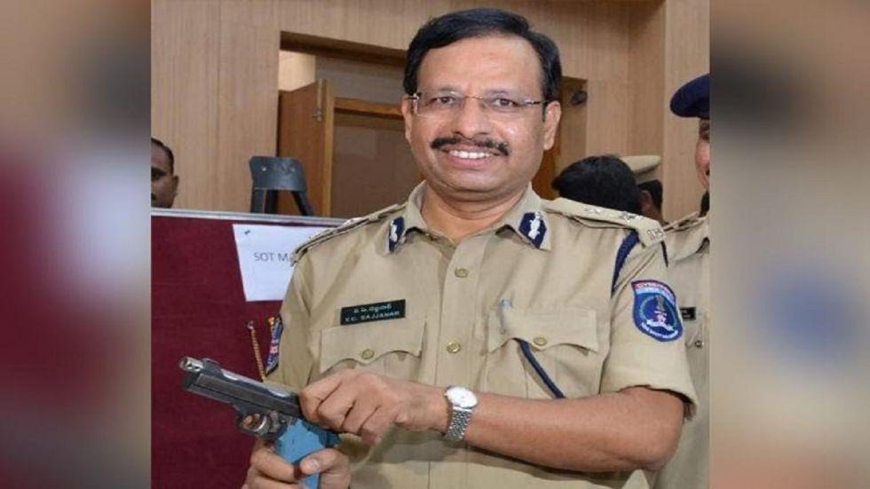 Cyberabad Police Commissioner CV Sajjanar