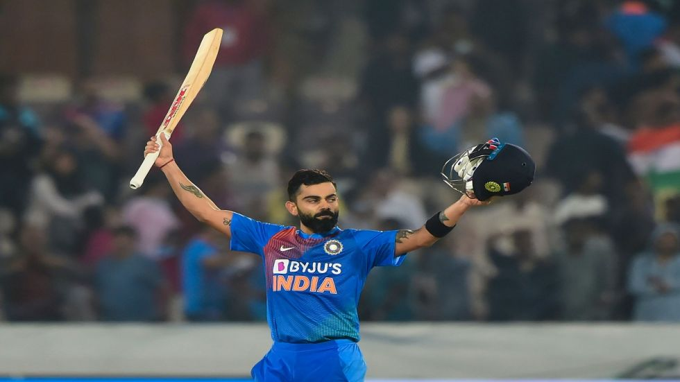 Virat Kohli's highest individual score in Twenty20 Internationals helped India achieve their highest run chase in the format.