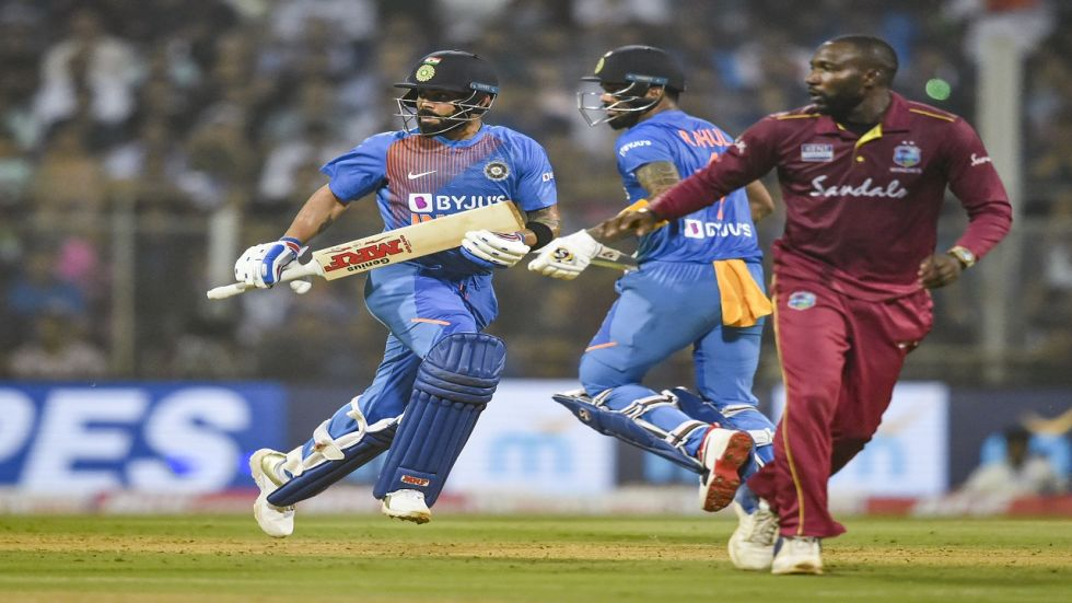 KL Rahul, Virat Kohli and Rohit Sharma blasted fifties as India won the match by 67 runs at the Wankhede stadium against the West Indies.