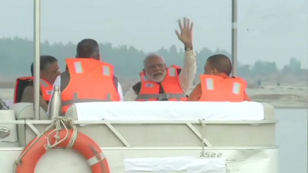PM Modi reviewed the progress of work done on aspects of cleaning the Ganga.