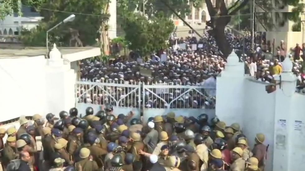 Scenes at Lucknow's Nadwa College on Monday, December 16, 2019.