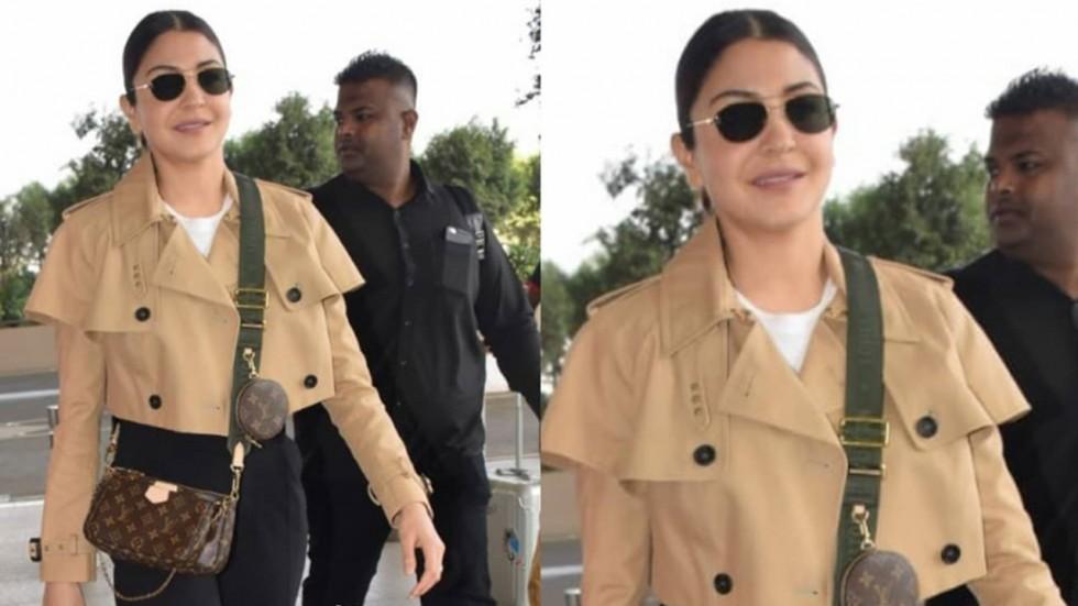 Anushka Sharma spotted at Mumbai airport.