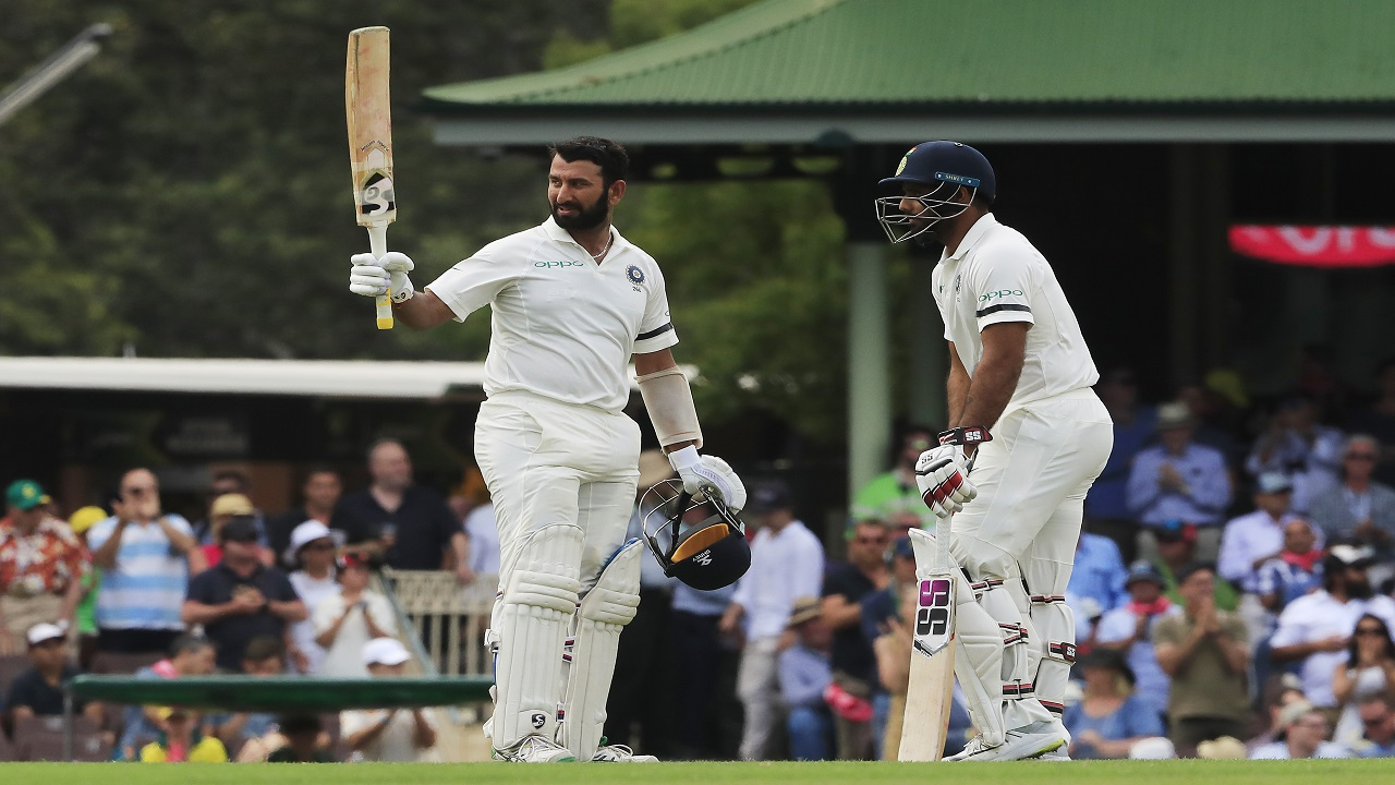 Image result for pujara ton vs karnataka