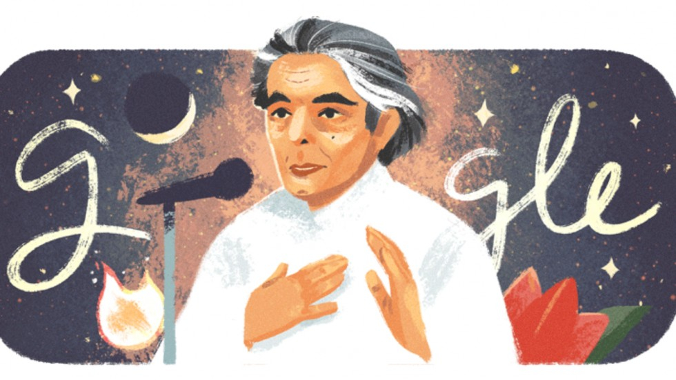 Google Doodle is today celebrating the 101st birth anniversary of great Indian Urdu poet Kaifi Azmi