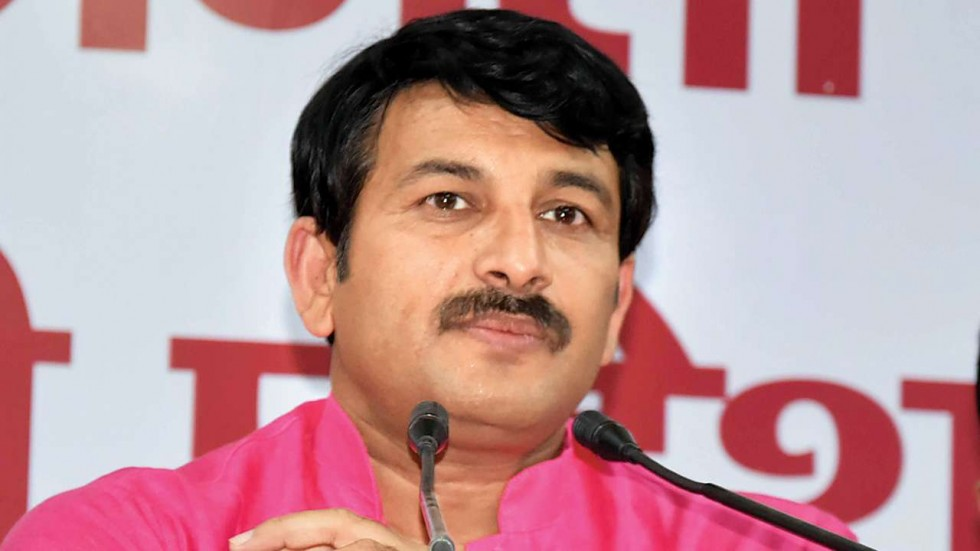 In the video, Manoj Tiwari was seen dancing to AAP's assembly poll campaign song ''Lage Raho Kejriwal''