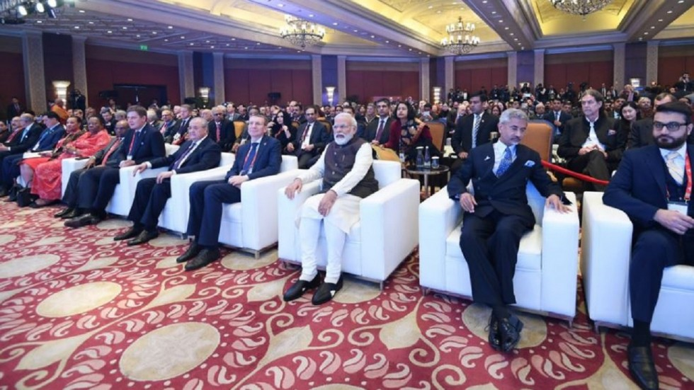 Former Canadian PM Harper hailed Prime Minister Modi's leadership, saying India will be a country that is self-defined.