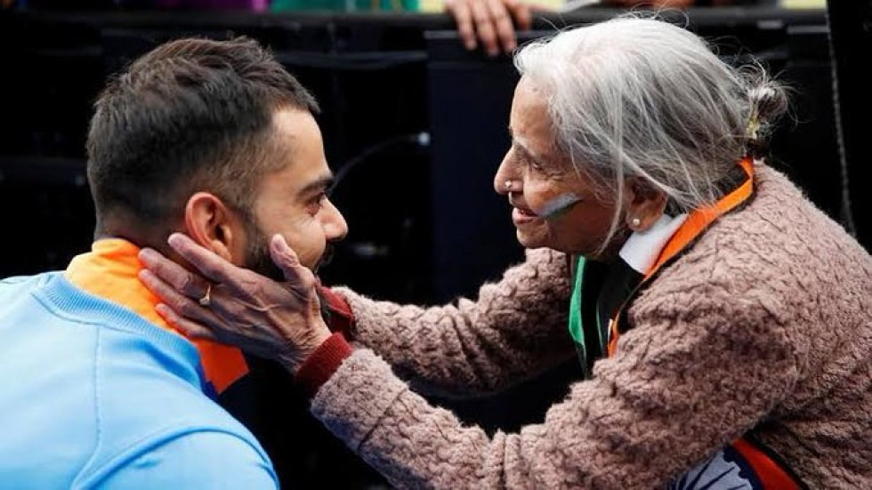 Charulata Patel was designated as India cricket team's superfan after she arrived for the World Cup clash on a wheelchair at the age of 87.