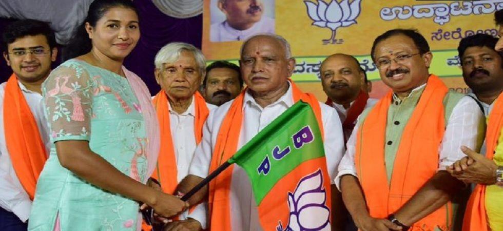 Athlete Anju Bobby George joins BJP in presence of BS Yeddyurappa