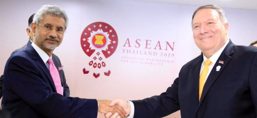 S Jaishankar and Mike Pompeo are meeting in Bangkok on the sidelines of ASEAN summit.