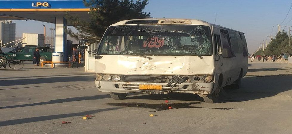 Afghan TV bus bombed in Kabul, two people killed (Source: Twitter)