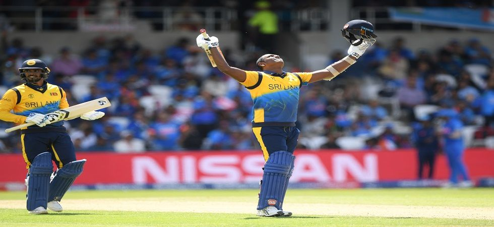 Angelo Mathews scored his third ton and all have come against India as Sri Lanka dominated in the ICC Cricket World Cup 2019 clash in Leeds. (Image credit: Getty Images)