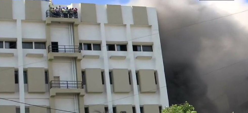 Fire breaks out at MTNL building in Mumbai's Bandra.