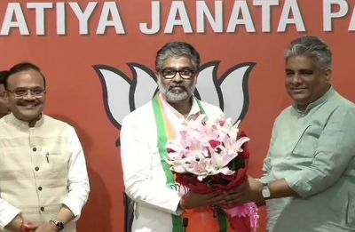 Former Samajwadi Party MP Neeraj Shekhar joins BJP