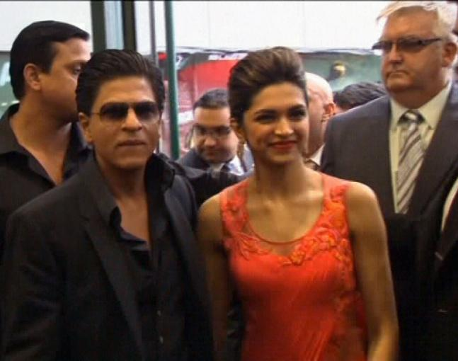 Shahrukh, Deepika promote 'Chennai Express' in London