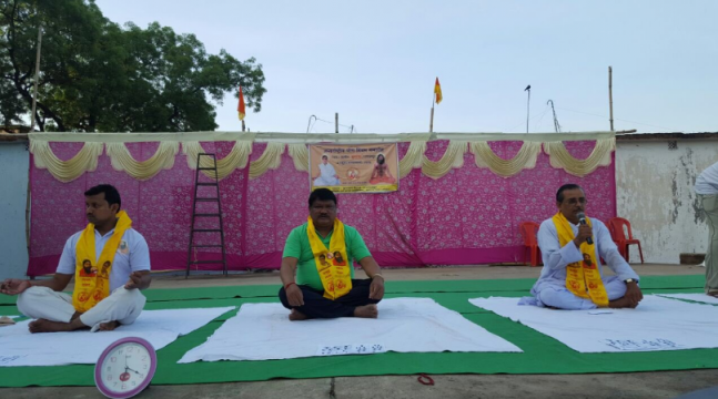 International Yoga Day: PM Modi and ministers perform yoga