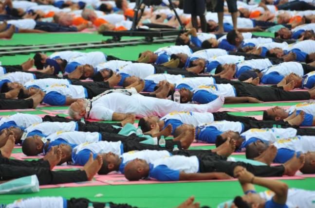 PM Modi leads International Yoga Day celebrations