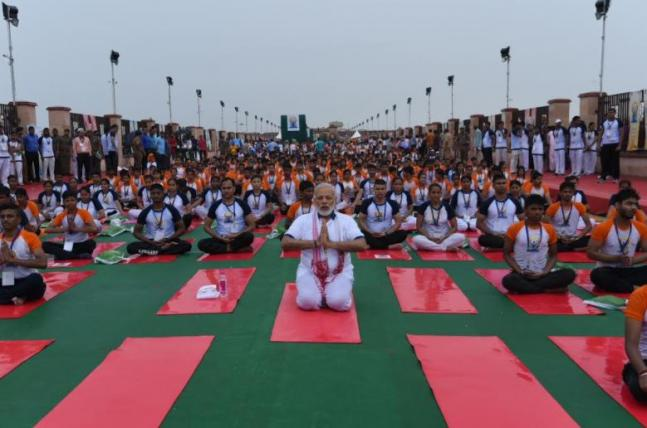 International Yoga Day 2017 PM Narendra Modi leads celebrations in Lucknow