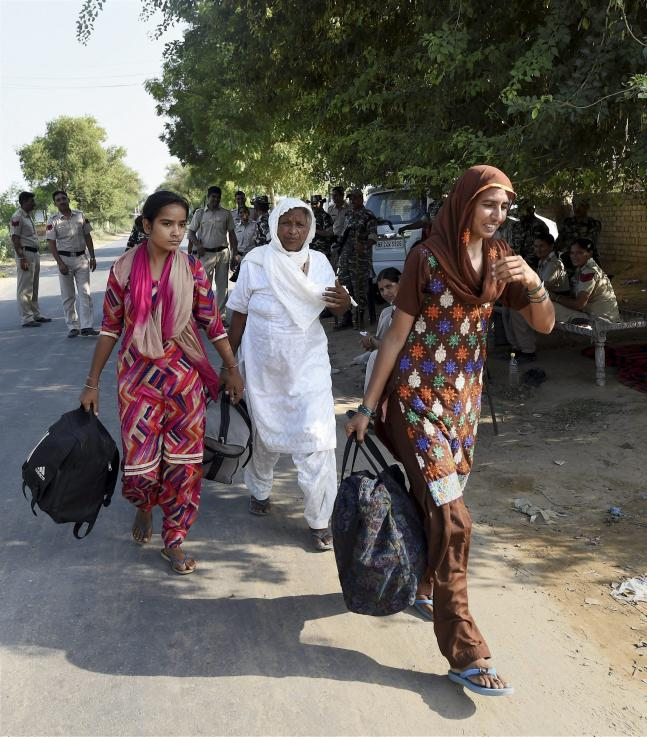 Dera followers continue to leave from sect headquarters ahead of Ram Rahim sentencing