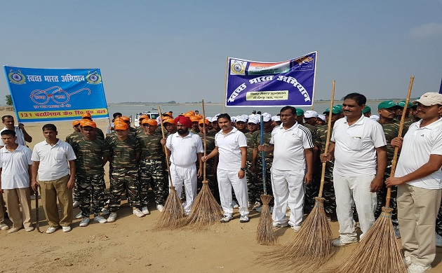 Mission Clean Ganga CRPF troops lead by example in cleaning holy river near Patnas Digha ghat