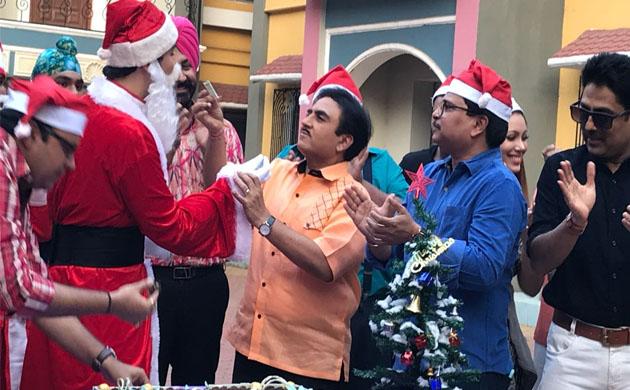 In Pics Christmas celebration on sets of Taarak Mehta Ka Ooltah Chashmah
