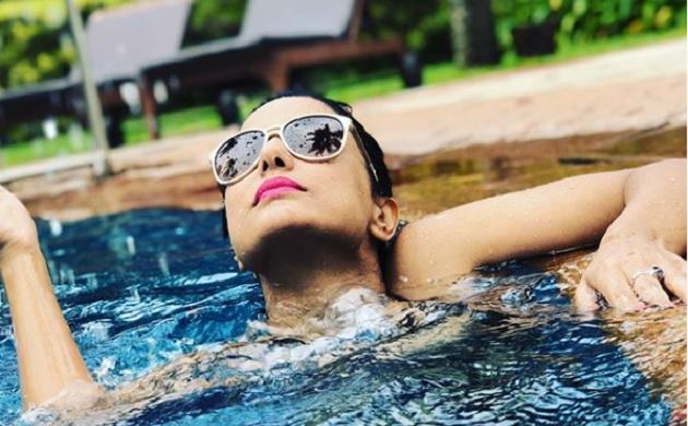 Bigg Boss 11 finalist Hina Khan enters pool shares bikini pics