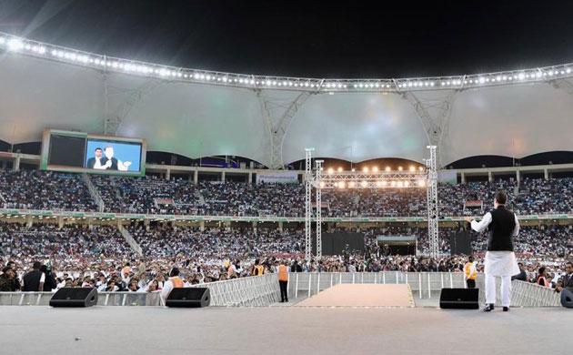 Huge crowd gathers at Congress president Rahul Gandhi's rally in UAE