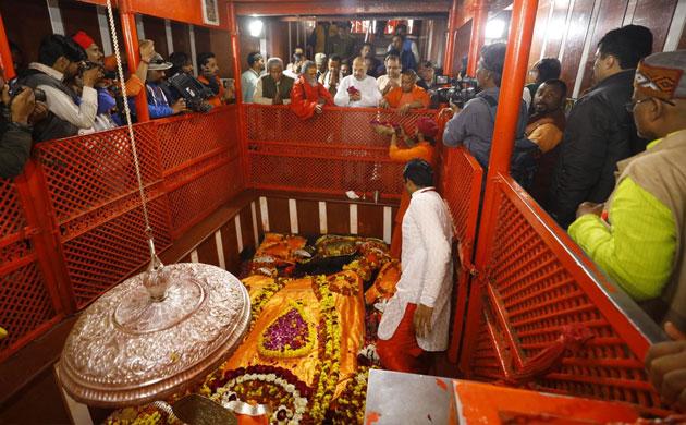 BJP chief Amit Shah, UP CM Yogi Adityanath take holy dip at Kumbh