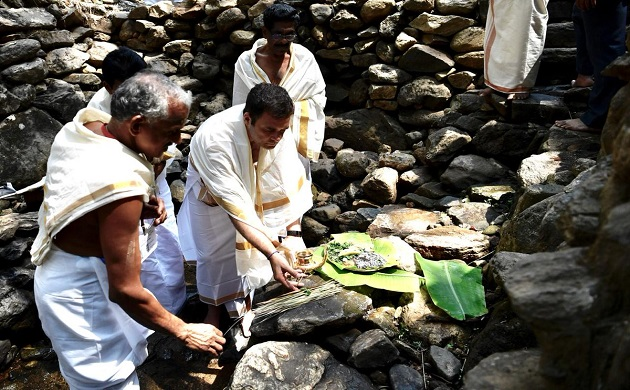 Rahul Gandhi in Wayanad Congress chief temple run in Gods Own Country