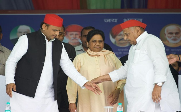 HISTORIC Mayawati Mulayam Singh Yadav share stage after 24 years in Mainpuri