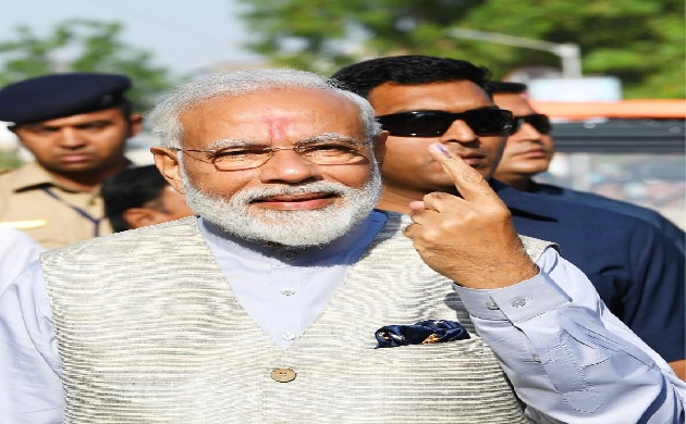 In Pictures: PM Modi leads stalwart voters for Phase 3 of Lok Sabha Polls