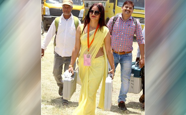 This election season, polling officer in yellow saree creates buzz with viral pics