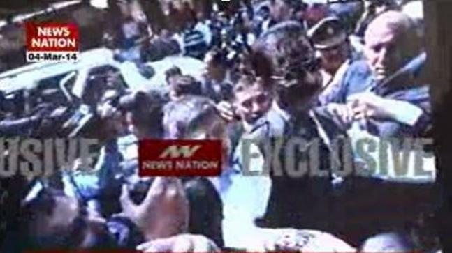 Exclusive Pics: Man throws ink at Subrata Roy