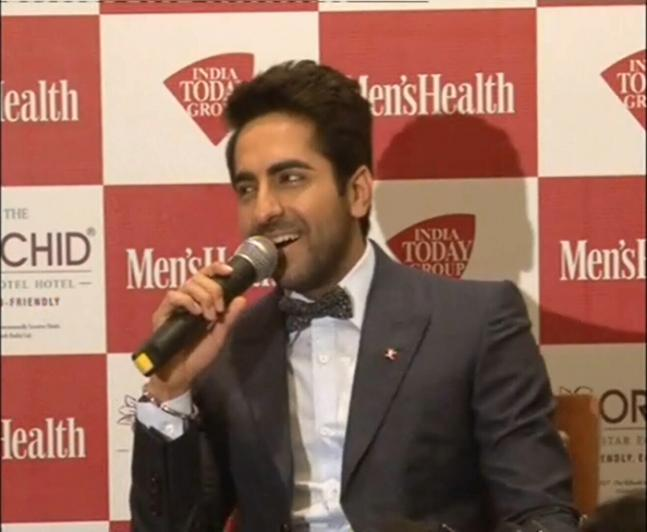 Ayushmann Khurrana unveils the cover of a health magazine